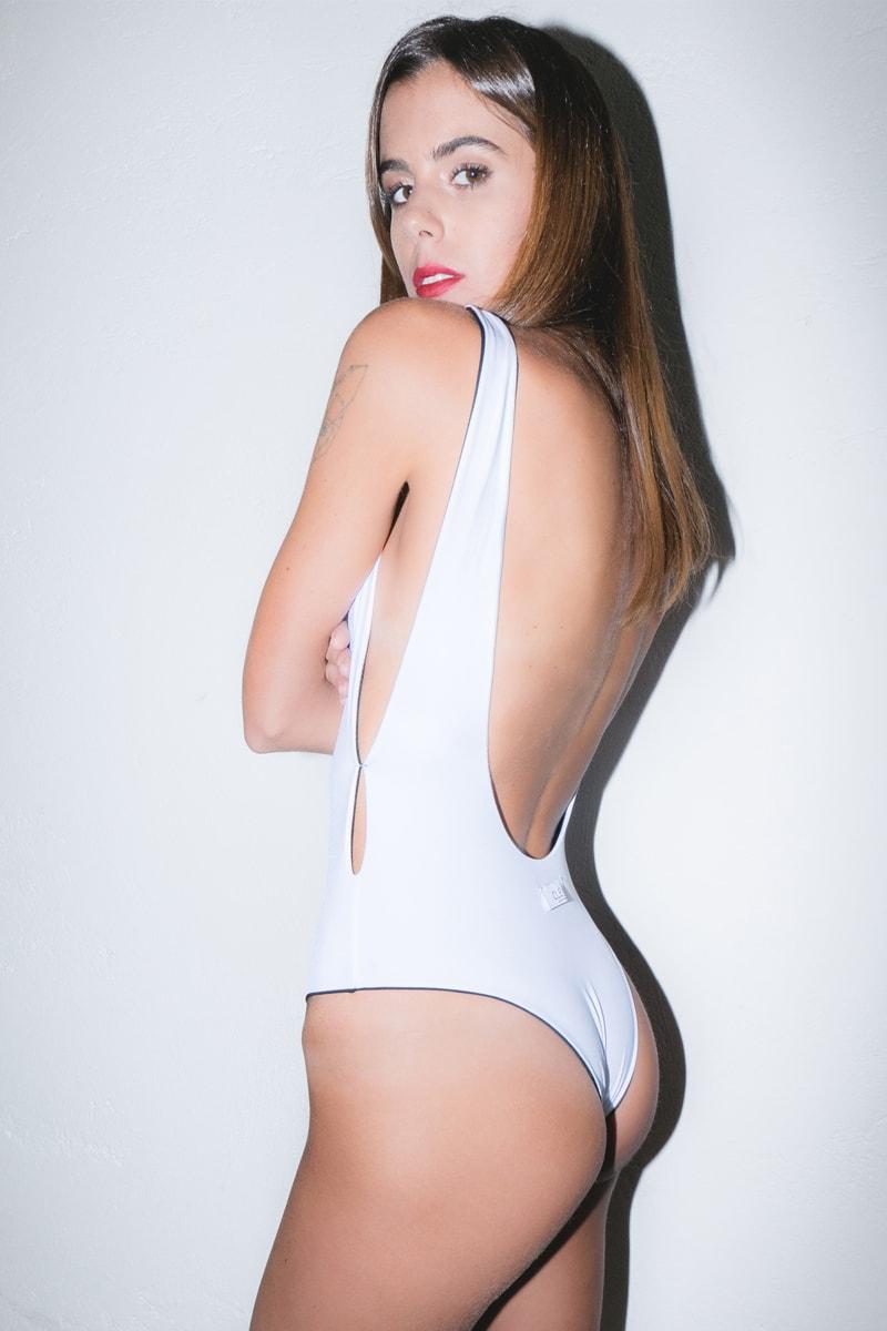 l'atteggiamento migliore 6d00d 62ff4 Costume intero reversibile bianco/nero
